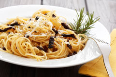 Spaghetti with dried tomatoes Stock Image