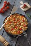 Spaghetti e ciliegia del tofu Fotografie Stock