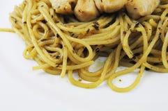 Spaghetti e pollo Immagine Stock