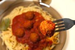 Spaghetti e polpette fotografie stock libere da diritti