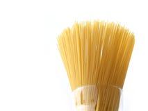 Spaghetti in een glas Stock Afbeeldingen
