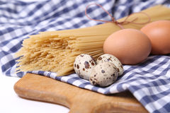 Spaghetti with eggs Royalty Free Stock Photography