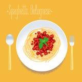 Spaghetti, elemento italiano di progettazione della pasta per il menu, manifesto royalty illustrazione gratis