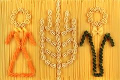 Spaghetti en deegwarenregeling Voedingsproductenconcept Royalty-vrije Stock Foto's