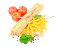 Spaghetti & kruiden Stock Foto