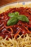 Spaghetti en tomaat Stock Foto's