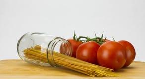 Spaghetti en tomaten Royalty-vrije Stock Foto