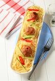 Spaghetti en vleesballetjes royalty-vrije stock afbeeldingen