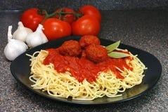 Spaghetti en Vleesballetjes Royalty-vrije Stock Fotografie