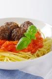 Spaghetti en Vleesballetjes royalty-vrije stock foto's