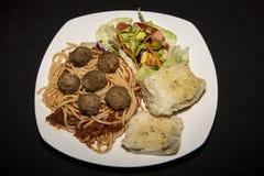 Spaghetti en Vleessaus Royalty-vrije Stock Afbeelding