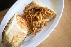 Spaghetti et boulettes de viande Photo libre de droits