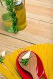 Spaghetti et romarin Photo libre de droits