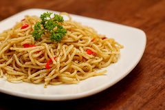 Spaghetti faits maison italiens Image stock
