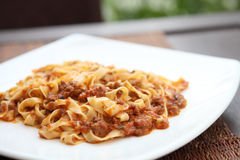 Spaghetti fettuccine Stock Photography