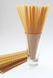 Spaghetti, fettuccine en lasagna's Royalty-vrije Stock Foto's