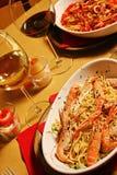 Spaghetti fish Stock Photos