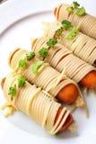 Spaghetti food in halloween Stock Photo