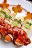 Spaghetti food in halloween Stock Image