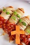 Spaghetti food in halloween Stock Photography