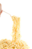 Spaghetti at fork Royalty Free Stock Photos