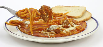 Spaghetti on Fork Royalty Free Stock Images