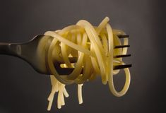 Spaghetti fork stock photography