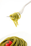 spaghetti on fork Stock Photography