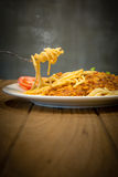 Spaghetti on a fork Royalty Free Stock Photography