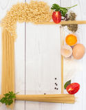 Spaghetti frame Stock Photos