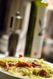 Spaghetti freschi Immagini Stock