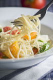 Spaghetti with Fresh Vegetables Royalty Free Stock Photography