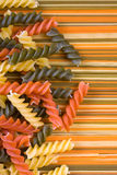 Spaghetti and fusilli pasta Royalty Free Stock Photography
