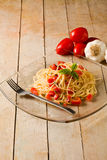 Spaghetti with Garlic and Oil Royalty Free Stock Images