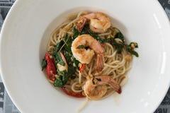 Spaghetti garnela Obraz Stock