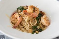 Spaghetti garnela zdjęcia stock