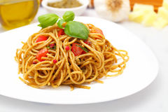 Spaghetti genovese Royalty Free Stock Images