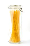 Spaghetti in glas Stock Afbeeldingen
