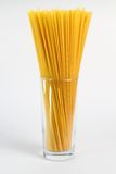 Spaghetti in glass Royalty Free Stock Images