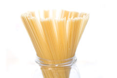 Spaghetti in glass jar Stock Photo