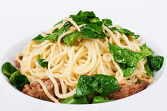 Spaghetti with herb and beef Stock Image
