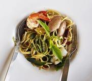 Spaghetti hete koel Royalty-vrije Stock Fotografie