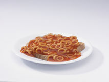 Spaghetti hoops on toast Royalty Free Stock Images