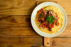 Spaghetti i klopsiki Obraz Stock