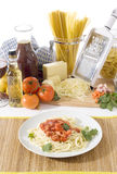 Spaghetti In A Plate Royalty Free Stock Images