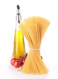 Spaghetti and ingredient Stock Image