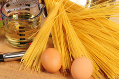 Spaghetti ingredients. Royalty Free Stock Photography