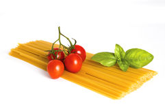 Spaghetti ingredients Royalty Free Stock Images
