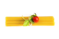 Spaghetti ingredients Stock Photography