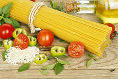 Spaghetti ingredients Stock Images